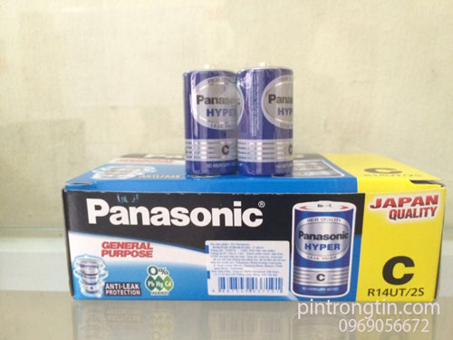 Pin Trung panasonic, pin Panasonic R14UT/2S