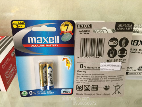 Pin maxell AAA alkaline, Pin maxell