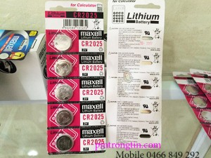 pin maxell CR2025, pin 3v