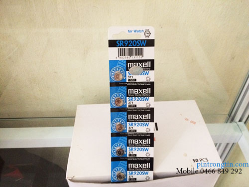 pin đồng hồ maxell SR920