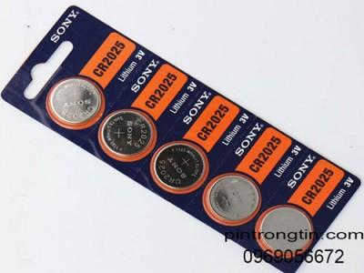 Pin sony cr2025, Pin lithium sony 3v chính hãng