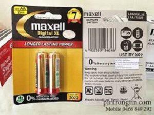 Pin maxell aa, pin tiểu, pin maxell, pin aa maxell