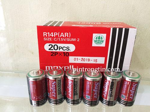 Pin Maxell C chính hãng, Pin Trung Maxell SuperR14P (AR)