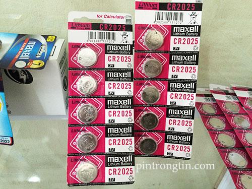 Pin lithium maxell cr2025 chính hãng
