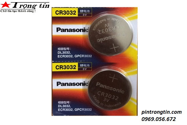 Pin CR3032 Panasonic ,Pin 3v CR3032 cmos