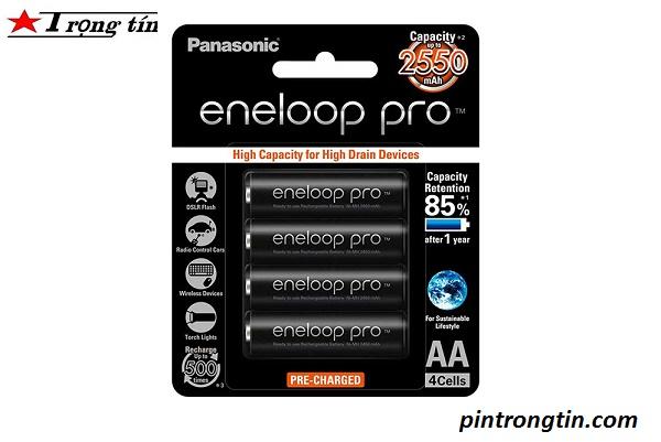 pin sạc Eneloop AA 2500mah, pin sạc panasonic vỉ 4 viên AA