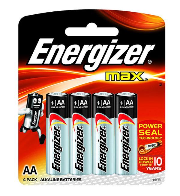 pin energizer aa 4 max