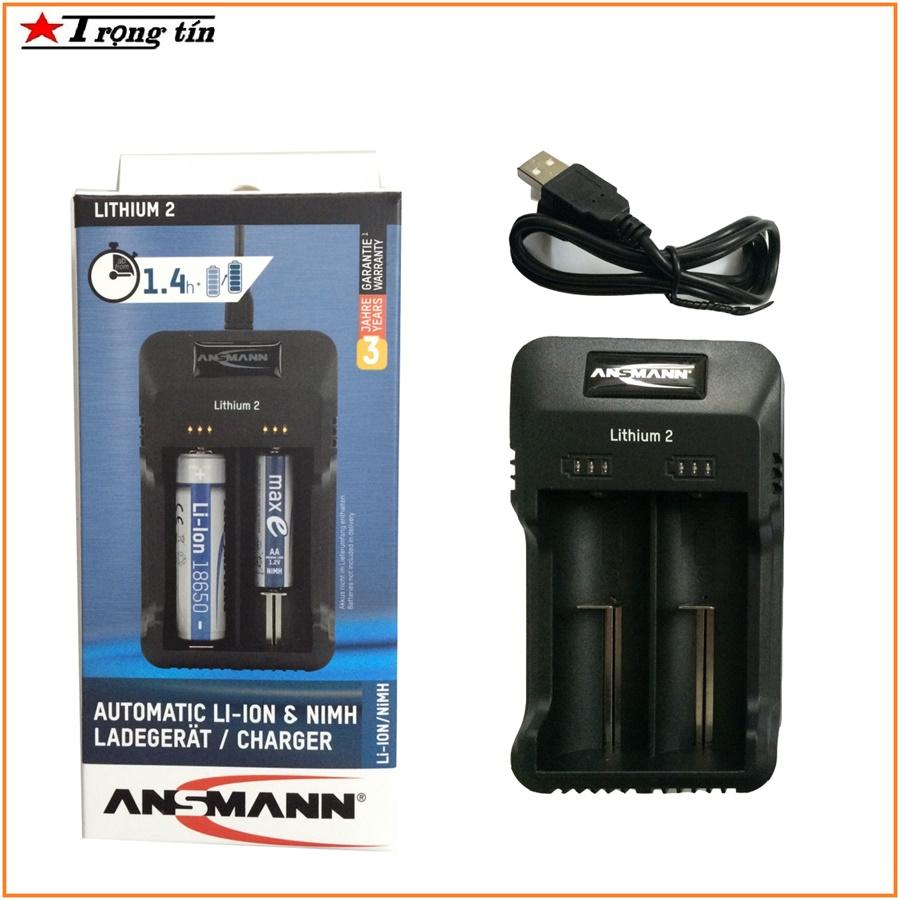Bộ sạc pin đa năng Ansmann tự ngắt 1.2V, 3.7V 18650, AA, AAA, C