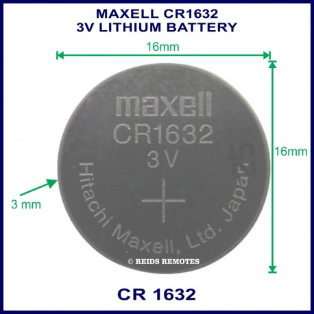 Maxell Cr1632 3v japan