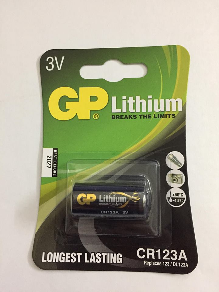 Pin Cr123A Lithium GP