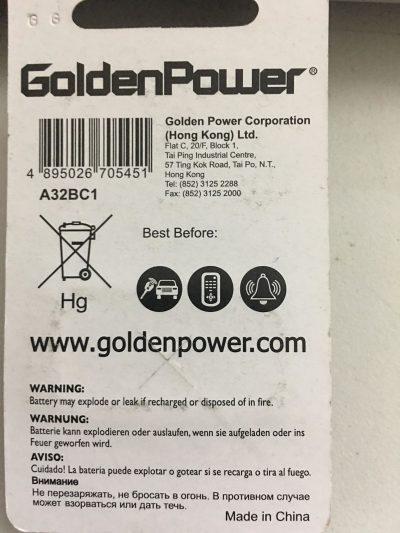 Pin a32 9V Golden Power