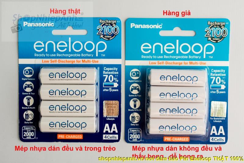 pin Eneloop thật - giả