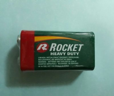 pin 9v rocket cacbon